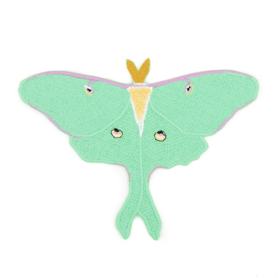Luna Moth embroidered patch by Crewel and Unusual