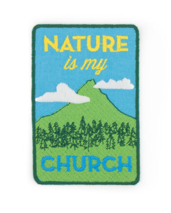 Nature is my Church embroidered patch by Crewel and Unusual
