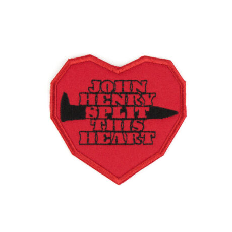 John Henry Split this Heart embroidered patch by Crewel and Unusual