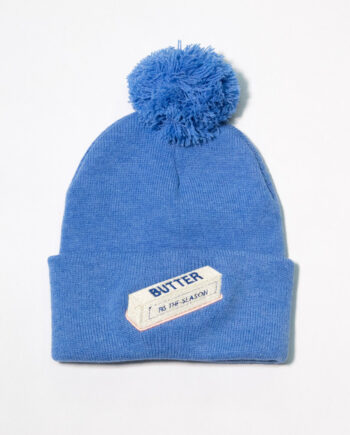 Embroidered Stick of Butter beanie by Crewel and Unusual