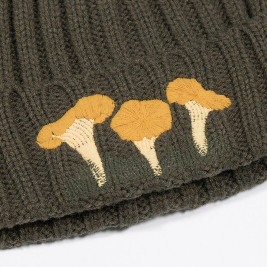 Embroidered Chanterelle Beanie by Crewel and Unusual