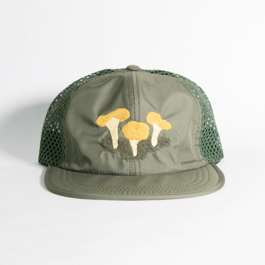 Chanterelle mushroom meshback Hat by Crewel and Unusual