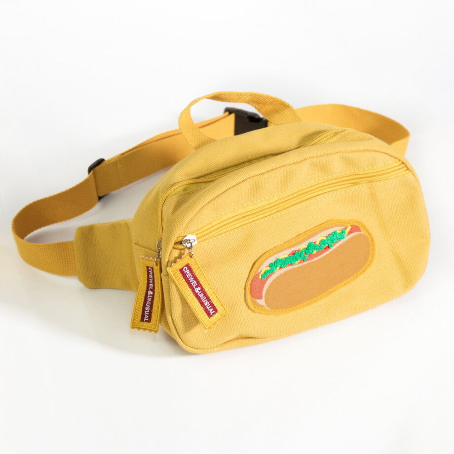 Hotdog Fanny pack by Crewel and Unusual