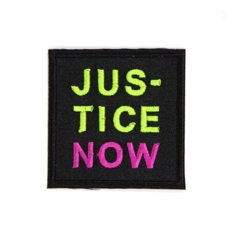 Justice Now embroidered patch