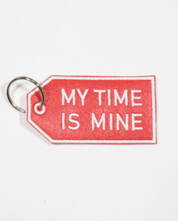 My time is mine embroidered keychain by Crewel and Unusual