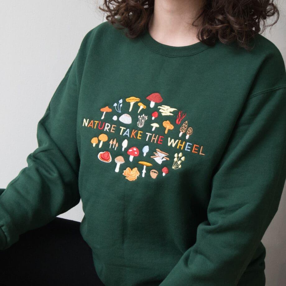 nature take the wheel sweatshirt