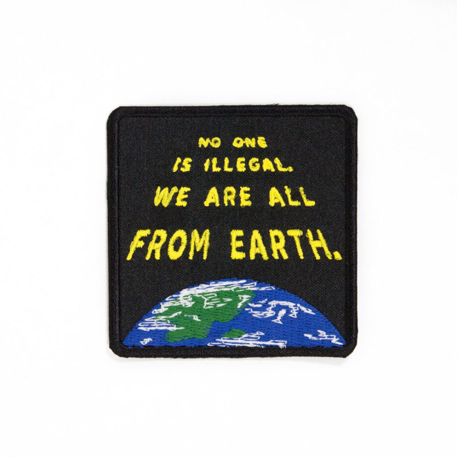 we are all from earth embroidered patch