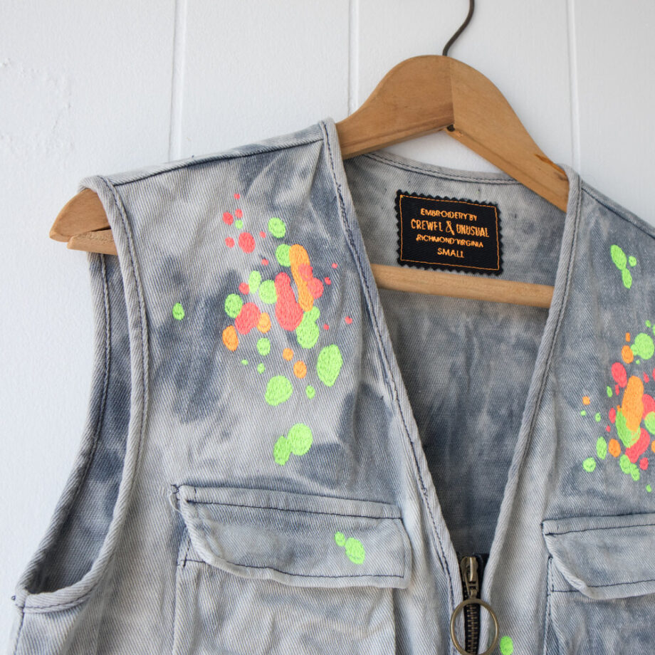 Embroidered Paint Platter Vest by Crewel and Unusual