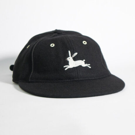 White Rabbit Embroidery Old School Baseball Cap by Crewel and Unusual
