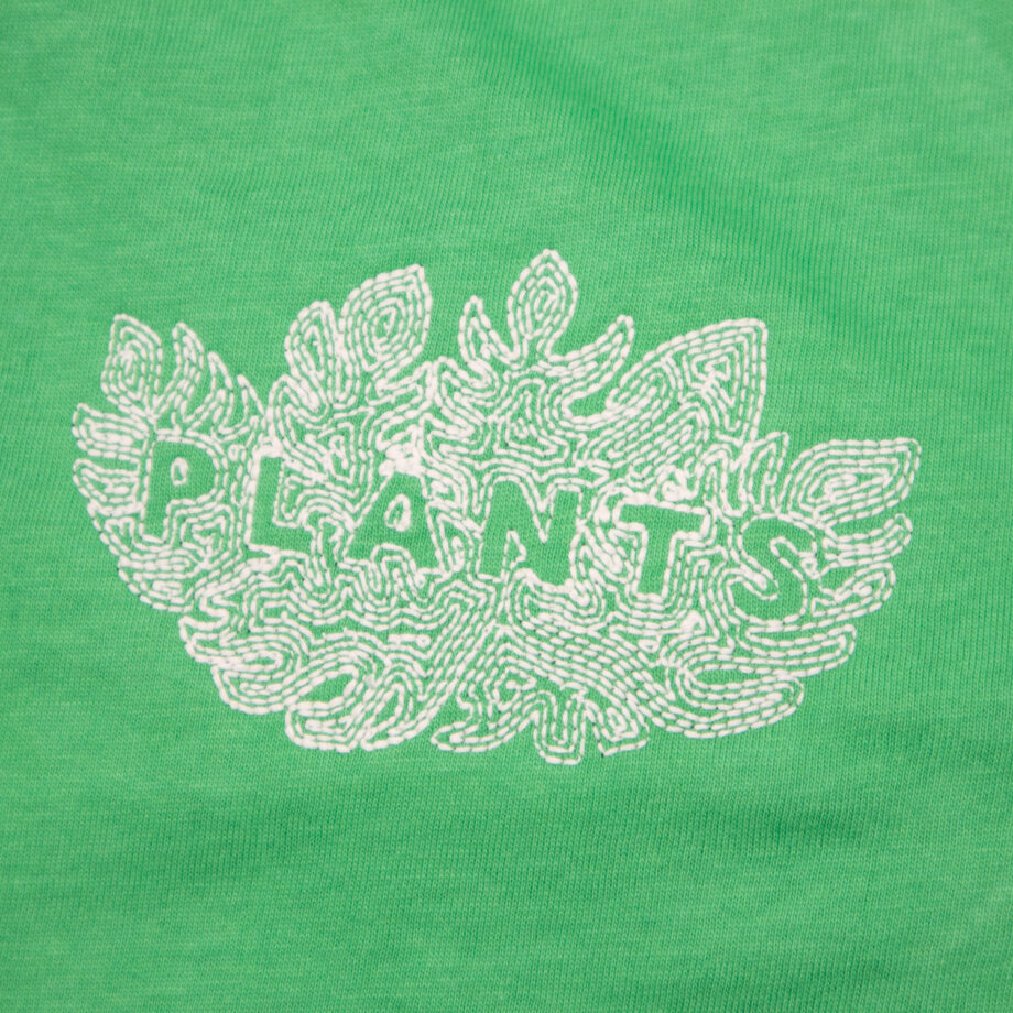 Green Plants embroidered t-shirt